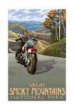 Great Smoky Mountains National Park Motorcycle Photographic Print by Paul A Lanquist