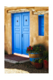 Blue Door Adobe Walls Photographic Print by George Oze