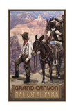 Grand Canyon Mule Train Pal 1030 Photographic Print by Paul A Lanquist