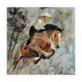 Jumping Horse Photographic Print by  Ledent