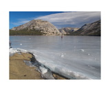 Ice Skaters On Frozen Tenaya Lake Photographic Print by Ronald A Dahlquist
