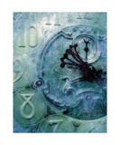 Grandfather Clock Photo In Blue Photographic Print by Annmarie Young