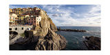 Cinque Terre Town On The Cliff, Mnarola, Italy Photographic Print by George Oze