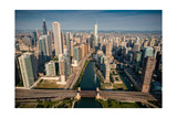 Chicago River Aloft Photographic Print by Steve Gadomski