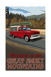 Great Smoky Mountains Pickup Road Trip Pal 2601 Photographic Print by Paul A Lanquist