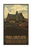 Prince of Wales Hotel, Waterton Lakes National Par Photographic Print by Paul A Lanquist