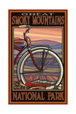 Biking in the Great Smoky Mountains National Park Photographic Print by Paul A Lanquist