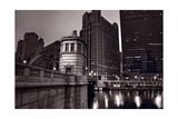 Chicago River Bridgehouse Photographic Print by Steve Gadomski