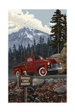 Oregon Cascade Lakes Highway Truck Pal 2887 Photographic Print by Paul A Lanquist