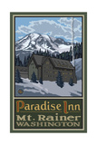 Paradise Inn Mt Rainier National Park Pal 018 Photographic Print by Paul A Lanquist