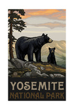 Yosemite National Park BBF Black Bears Papier Photo par Paul A Lanquist
