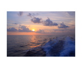 Sunset From Off The South Coast Of Kauai Photographic Print by Ronald A Dahlquist