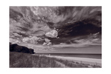 Lighthouse Beach Evanston IL BW Photographic Print by Steve Gadomski
