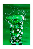 Green Dice Splash Photographic Print by Steve Gadomski