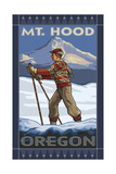 Oregon Cross Country Skier Mount Hood Photographic Print by Paul A Lanquist