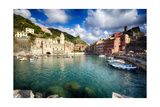 Vernazza Harbor View, Cinque Terre, Italy Photographic Print by George Oze