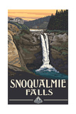 Snoqualmie Falls Lodge Washington Pal 367 Photographic Print by Paul A Lanquist