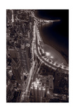 Lakeshore Drive Aloft BW Warm Toned Photographic Print by Steve Gadomski