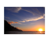 Sunset On The Na Pali Coast From Ke-E Beach Photographic Print by Ronald A Dahlquist