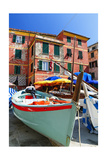 Boats on the Dock, Vernazza, Cinque Terre, Italy Photographic Print by George Oze