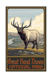 Great Sand Dunes National Park Elk Pal 2987 Photographic Print by Paul A Lanquist