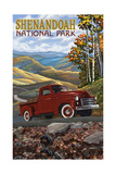 Shenandoah National Park Red Truck Pal 2693 Photographic Print by Paul A Lanquist