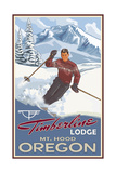 Timberline Lodge Oregon Boy Skier Pal 023 Photographic Print by Paul A Lanquist