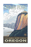 Crown Point Oregon Columbia River Gorge Pal 015 Photographic Print by Paul A Lanquist