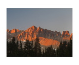 Alpenglow On Red Kaweah From Little Five Lakes Photographic Print by Ronald A Dahlquist