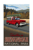 A pickup trip through Shenandoah National Park Photographic Print by Paul A Lanquist