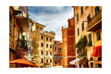 Building Facades of Riomaggiore, Liguria, Italy Photographic Print by George Oze