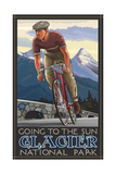 Going To The Sun Highway Glacier National Park Bik Photographic Print by Paul A Lanquist