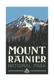 Mount Rainer, Washington Pal 076 Art by Paul A Lanquist