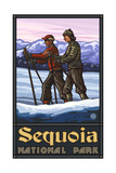 Sequoia Natiional Park Cross Country Skiers 1218 Photographic Print by Paul A Lanquist