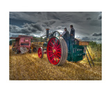 Fisher Humphries Threshing Machine Photographic Print by J A Evans