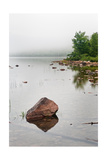 Pink Granite In Jordan Pond at Acadia Photographic Print by Steve Gadomski