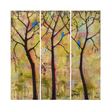 Art Tree Print Triptych Photographic Print by Blenda Tyvoll