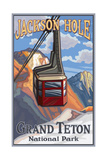 Jackson Hole Tram Pal 048 Photographic Print by Paul A Lanquist