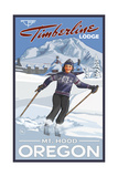 Timberline Lodge Oregon Girl Skier Pal 022 Photographic Print by Paul A Lanquist