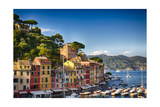 Colorful Harbor Houses in Portofino, Liguria, Italy Photographic Print by George Oze