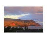 Hanalei Bay Sunrise Photographic Print by Ronald A Dahlquist