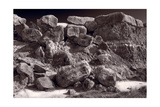 Gooseberry Badlands Wyoming BW Photographic Print by Steve Gadomski