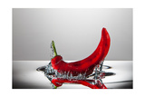 Red Pepper FreshSplash Photographic Print by Steve Gadomski