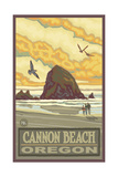 Cannon Beach Oregon Haystack Rock Pal 1134 Photographic Print by Paul A Lanquist