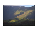 Light And Shadow On A Kauai Mountain Ridge Photographic Print by Ronald A Dahlquist