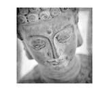 Black And White Photograph Of Buddha Photographic Print by Annmarie Young