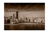 Lakeshore Chicago BW Photographie par Steve Gadomski