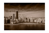 Lakeshore Chicago BW Photographic Print by Steve Gadomski