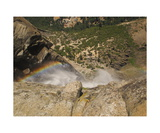 Upper Yosemite Fall And Rainbow Photographic Print by Ronald A Dahlquist