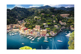 Portofino Birds Eye View, Liguria, Italy Photographic Print by George Oze
